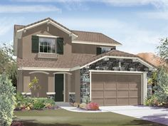 Ryland Homes Madison (4C) of the Northern Terrace Brookline at Providence community in Las Vegas, NV.