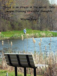 Wayne Dyer Quote There is no stress in the world, only people thinking stressful thoughts