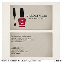 Nail Polish Manicure Monogram Business Card #nailpolish #manicure #nailsalon #nailtechnician #beautysalon #nailpolishbottle #nailtech #hairandbeauty #nailpaint #monogram