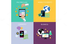 Internet Business, Payment Concepts by robuart on Creative Market