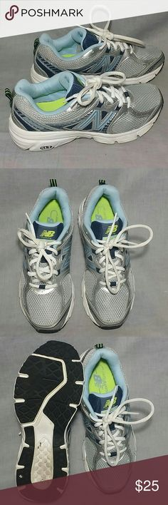 Women's NEW BALANCE 540 V2 Running Shoes 7 M Lace-ups DUAL COMFORT FLEX ZONE, silver / gray / blue, item is in a good condition NO PETS AND SMOKE FREE HOME. New Balance Shoes Athletic Shoes