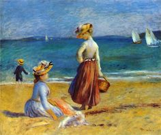 "Pierre-Auguste Renoir -     ""Figures on the Beach"""