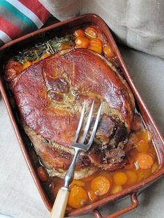 La cuisine d'ici et d'ISCA: Rouelle de porc au vin blanc