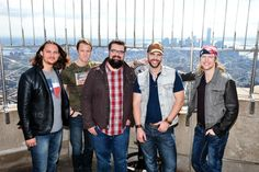 """September 25, 2015: Country group Home Free, the winners of NBC's """"The Sing-Off"""" Season 4, hit a high note with a performance at the Empire State Building's 86th floor Observatory to celebrate new album """"Country Evolution""""!"""