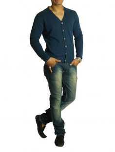 Buy Online Blue colored sweater by Todi - 2014