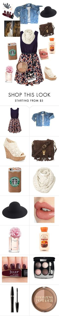 """fall coffee date"" by chelle12700 ❤ liked on Polyvore featuring GUESS, Kendall + Kylie, Proenza Schouler, Fat Face, J.Crew, Charlotte Tilbury, Tommy Hilfiger, Charlotte Russe, Chanel and Mary Kay"