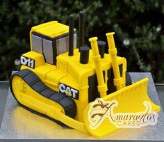 Cat Bulldozer cake.