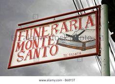 Nicaraguan Shop Sign Of Undertaker, Funeral Director, Granada ...