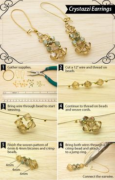 DIY Crystazzi Crystal Earrings