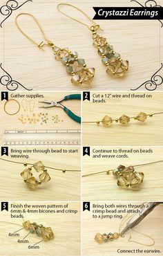 DIY Crystazzi Crystal Earrings