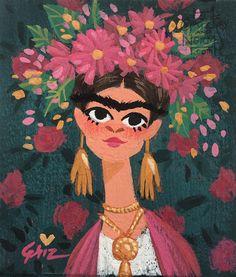 Frida Kahlo #grizandnorm #griz #gouache