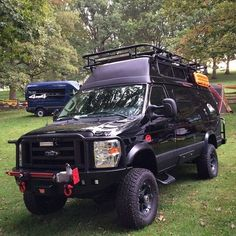 Sportsmobile loaded with Aluminess gear...Front and rear bumpers and roof rack