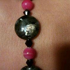 "I just added this to my closet on Poshmark: Labradorite & Crystal bracelet!. Price: $25 Size: 8.25"""