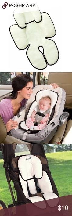 Baby head and body support Excellent Condition! Smoke and pet free home. Helps support baby's head while seated in car seats, strollers, bouncer seats and infant swings. Perfect fit for all babies and preemies! Separate head support adjusts length-wise as baby grows for a custom fit. Reversible for two style options. Accessories