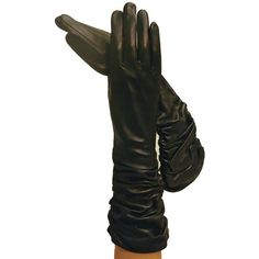 black gloves,hands ❤ liked on Polyvore featuring accessories and gloves