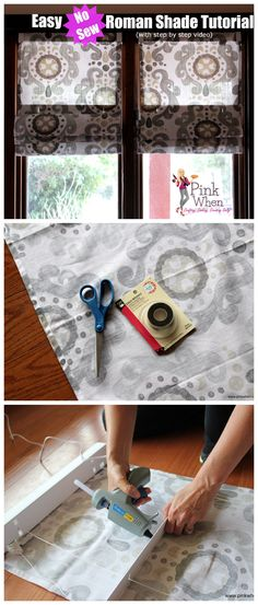 Ideas For Bathroom Window Coverings Roman Shade Tutorial