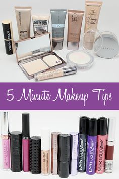 Phyrra shares the best 5 minute makeup tips! Here are the products she chooses when she's pressed for time - from foundations to quick eyeshadow looks to lipsticks, mascara and blush! This will help you save time.
