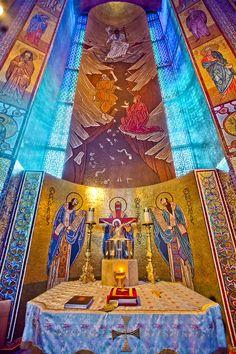 Altar at Holy Trinity Greek Orthodox Church in San Francisco, CA