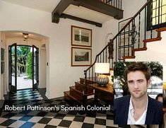 """Robert Pattinson's Spanish Colonial home los very """"Old Hollywood"""" to me, but updated for a new generation. The walled and gated estate was one of the first private residences built in the Hills above Los Feliz back in 1922. It's on the market for $6.75 million — take a lo! The listing says: """"Sitting on …"""