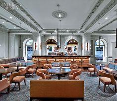 Commercial Interiors. Harlow Restaurant, NYC. Designer: Meyer Davis Studio.