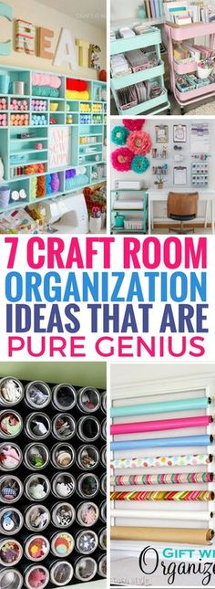 Absolutely LOVE these Craft Room Organization Ideas! They actually SOLVE all my craft room problems. Just what I've been looking for! The magnetic containers are brilliant!