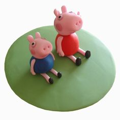 Peppa and george Whimsical Wedding Cakes, Wedding Cake Designs, Edible Cake Toppers, Cupcake Toppers, Peppa Pig Birthday Cake, Ballerina Cakes, Sugar Craft, Girl Cakes, Cake Decorating