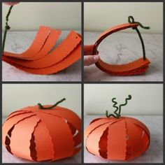 Check out these easy and cute paper pumpkins and three other great Halloween crafts!