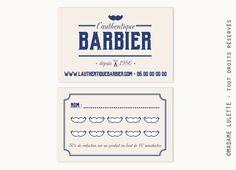 Barbier Carte De Visite Et Fidlit