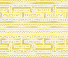 Hmong pattern yellow fabric by angels11 on Spoonflower - custom fabric