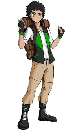 Yuraun (Pokemon Trainer OC) by PenSpark on DeviantArt Pokemon Trainer Outfits, Pokemon Conquest, Pokemon Rpg, Dinosaur Cards, Pokemon People, Cool Anime Guys, Gym Leaders, Pokemon Images, Avatar