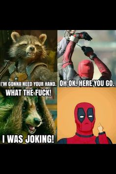It might be some time before we see the Merc with a Mouth in a mainstream Marvel movie, but these Deadpool vs Avengers memes will tide us over. Deadpool Y Spiderman, Deadpool Funny, Deadpool Movie, Funny Marvel Memes, Dc Memes, Marvel Jokes, Avengers Memes, Funny Comics, Deadpool Tattoo