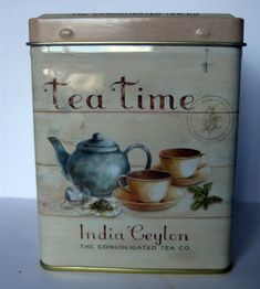 """""""Tea Tin. Since tea is sensitive to light tin containers are a good way to keep their essence longer. Also since tea contains oils you wouldn't want to store them in plastic containers either.."""" ~Deann Murphy"""