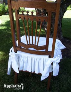 Chair Seat Cover Dining Chair Slipcover With Ruffled Skirt