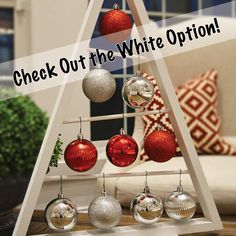 SALE Rustic Stained A-frame Christmas Tree Ornament Display/