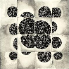 'Tesselation (16-3) #6' (2010) by South Korean-born, Washington state-based artist Eunice Kim. Collograph monoprint, 12 x 12 in. via the artist's site