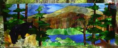 Free Stained Glass Transom Patterns landscapes | Stained-glass landscape: Maine scenery rendered in art glass (w.i.p.)