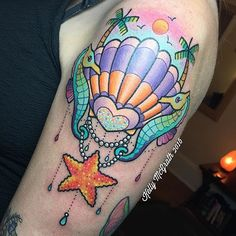 Tropical tattoos are so fun! She came all the way from FL to get this piece! I'm alway... | Use Instagram online! Websta is the Best Instagram Web Viewer!
