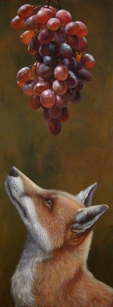 Fox and Grapes - Roberto Rizzo on Sunriseartists.com #Surrealism #Art #Painting