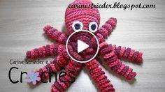 Oh my goodness! Octopus Crochet Pattern, Crochet Patterns Amigurumi, Amigurumi Doll, Crochet Dolls, Knitting Patterns, Free Crochet, Knit Crochet, Crochet Hats, Baby Octopus