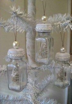 Repurposed vintage salt shakers