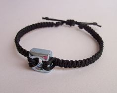 Men's Macrame and Steel Nut Bracelet by FlowertownOriginals, $16.00