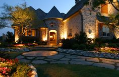 We design landscape lighting solutions that enhance your home's exterior features. We can illuminate that hardscaped surface or walkway in a creative way adds additional intrigue but doesn't sacrifice safety.