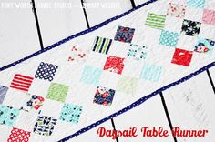 Daysail Table Runner - Fort Worth Fabric Studio -- Lindsey Weight