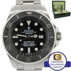 2010 Rolex Sea-Dweller DEEPSEA 116660 Steel 44mm Black Ceramic Dive Watch w Box