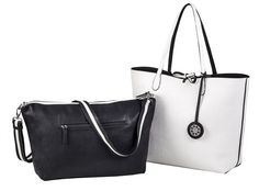 Check out what Nicoles Tennis Boutique has to offer for on and off the court! Sydney Love Ladies Reversible Tote Bag with Inner Pouch - Black and White