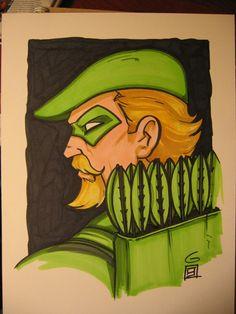 SDCC Sketch: Green Arrow by grantgoboom