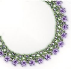 Necklace with Flowers Pattern