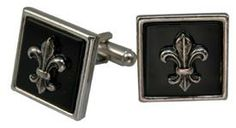 Square Cuff Links with Fleur on Black are great. http://store.classiclegacy.com/178/gifts-for-you/cuff-links      #Cufflinks #fleurdelis #mensgifts #giftsfordad #fathersday #makingtheordinaryextraordinary