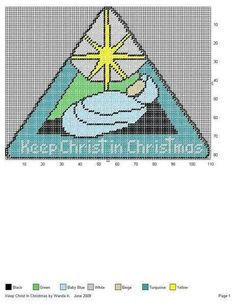 KEEP CHRIST IN CHRISTMAS by WANDA K. -- WALL HANGING