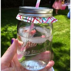 mason jar cupcake liner idea - keeps bugs out and adds a pop of color.